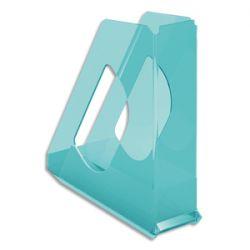ESSELTE Porte-revues COLOUR'ICE Bleu. Dimensions (hxp) : 25,6x26 cm. Dos de 7,2 cm