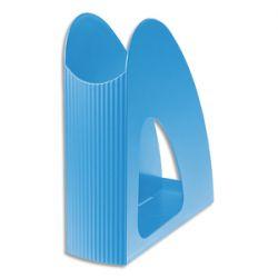HAN Porte-revues Loop Bleu clair en polypropylène - Dos 7,6 x H25,6 x P23,9 cm