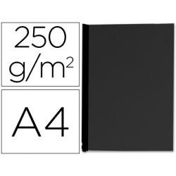 Couverture q-connect carton 250g grain cuir pour reliure format a4 coloris noir paquet 100 unités