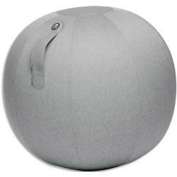 ALBA Ballon Ball Move Up Gris clair, résistant, anti-éclatement, gonflable, poignée de transport, D65 cm