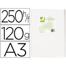 Papier q-connect multifonction ultrawhite a3 120g/m2 blancheur 170 opacité 96 rigidité 60 250 feuilles.