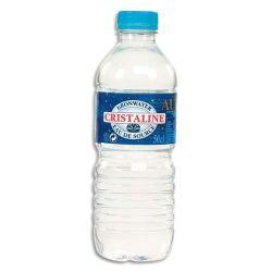 CRISTALINE Bouteille plastique d'eau de 50 cl