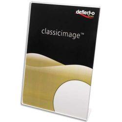 DEFLECTO Porte affiche transparent pour documents A5 portrait incliné