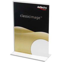 DEFLECTO Porte affiche transparent pour documents A5 portrait droit