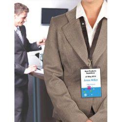 AVERY Boîte de 10 porte-badges grand format 105 x 148 mm